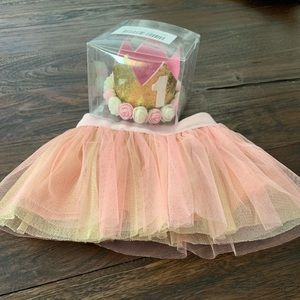 Other - First birthday crown and tutu